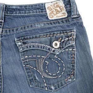 Big Star Maddie Distressed Flap Pocket Flare Jeans